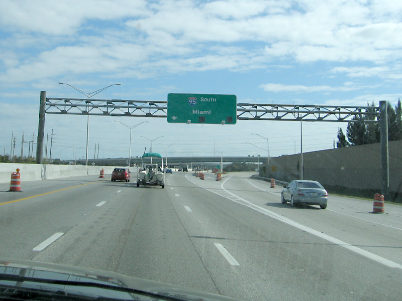 Miami Sign during a break in West Palm traffic