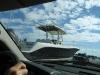 Big boats on highway 95, lots of 'em!