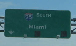HWY 95 South to Miami