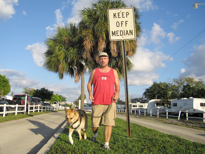 Keep off the dedicated dog run.
