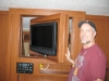 Spinning TV Wall in RV at Austin Expo