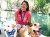 Fulltime RVer Lori with travelling pups