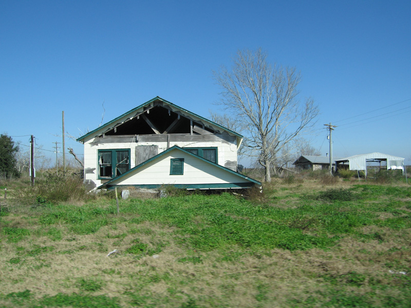 Hurricane damage, Acadiana, Louisiana