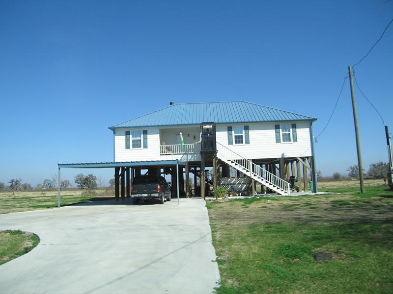 Stick house in Acadiana, Louisiana