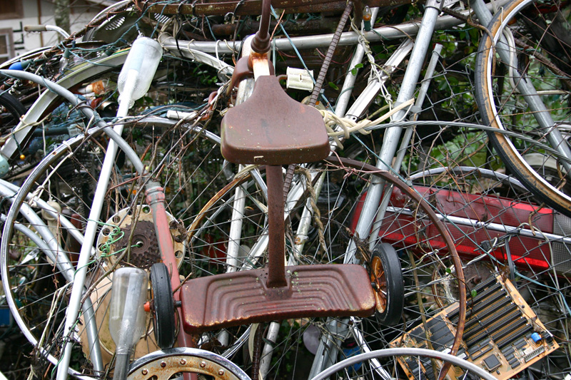 Bike parts, Cathedral of Junk, Austin