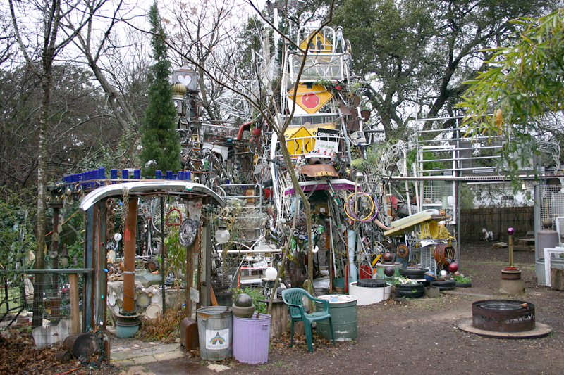 3. Cathedral of Junk yardscape