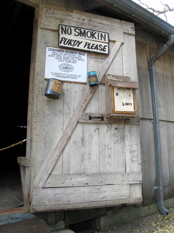 10. Luckenbach dance hall door