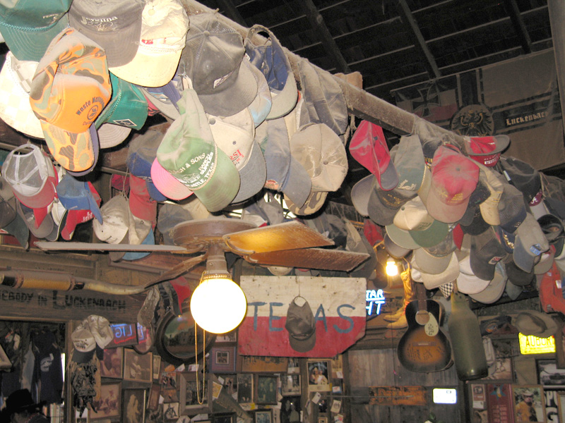 Luckenbach saloon hat collection
