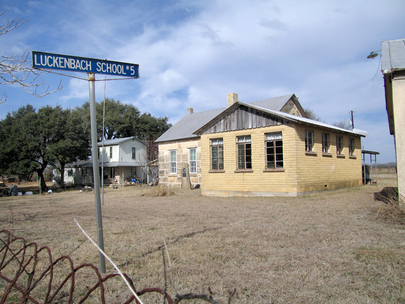 Historic Luckenbach Texas school
