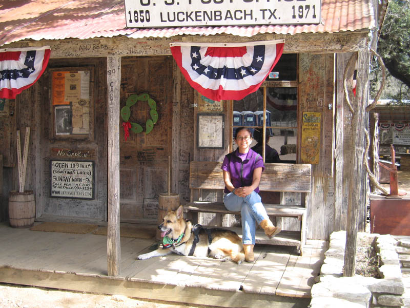 Rat and Dog in Luckenbach