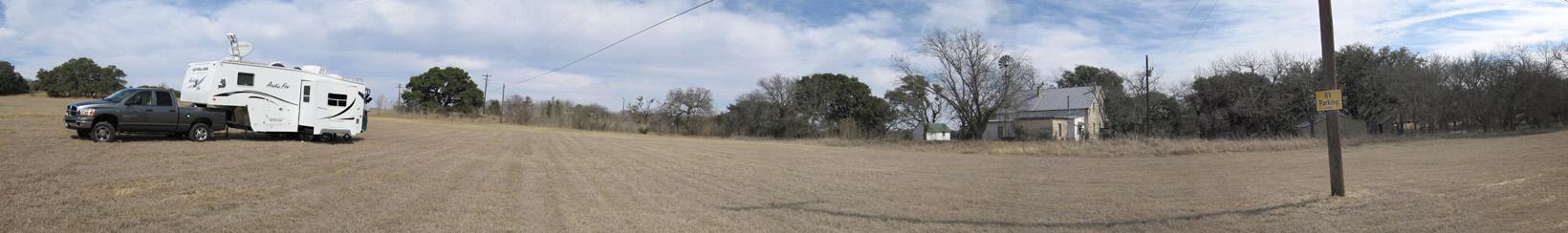 Boondocking in Luckenbach, TX