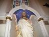 Jesus overlooks the Loretto Chapel
