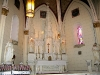 The altar at Loretto Chapel in Santa Fe, NM