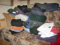 Free Clothes from Silverton Yard Sale Leftovers