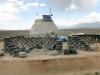 Earthship retaining wall Taos NM