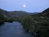 Moonrise over Lake Fork of the Gunnison River at Vickers Ranch