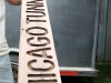 Jim makes street signs for the Vickers Horse River Ranch condominium plat