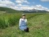 Hayseed Rene in the freshly cut Vickers hay meadow