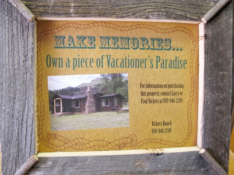 Vickers Horse River ranch cabins for sale promotion