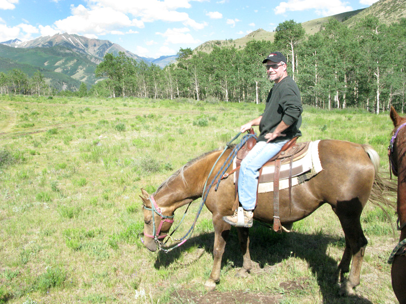 Jim enjoys the Vickers Ranch Breakfast Ride