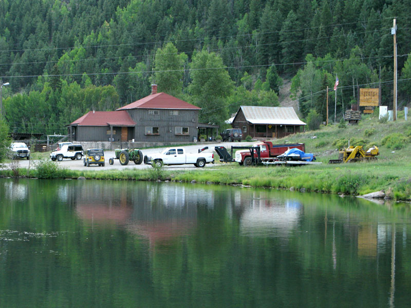 Vickers Guest Ranch fishing pond Lake City, CO