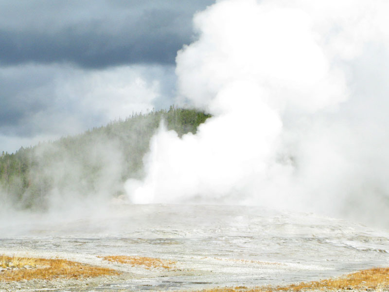 Old Faithful Erupts in Yellowstone