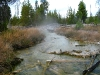 Yellowstone Steaming Creek at Artist Paint Pots