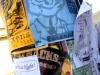 Handbills and fliers posted on Portland street pole