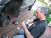 Jim applies brake noise spray to Dodge Ram 2500 squeaky brakes