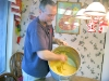 Jim mixes masa for homemade tamales