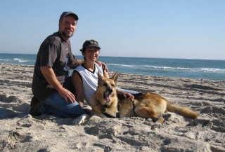 On the beach in North Carolina