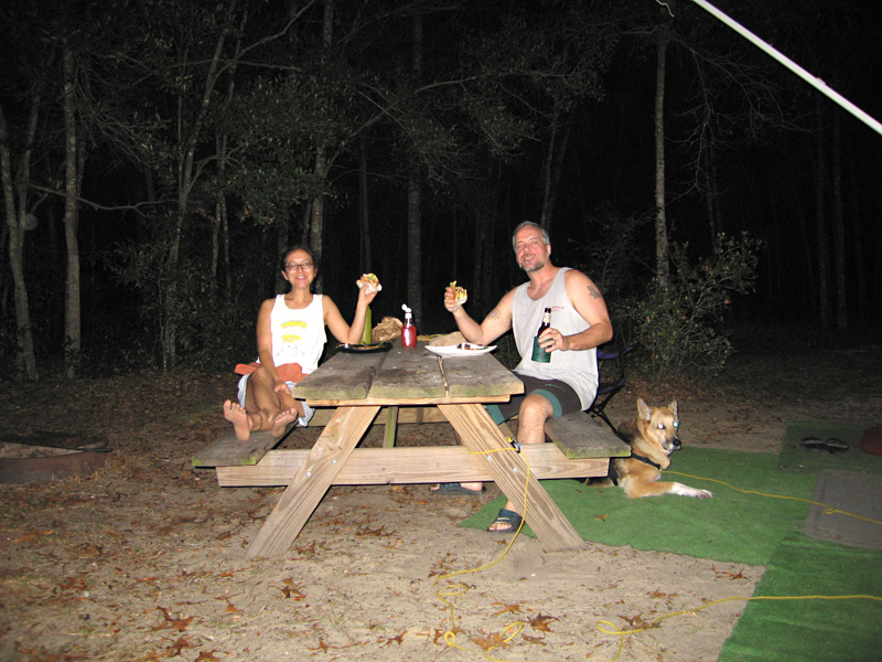 Dining Alfresco in November at Florida State Park
