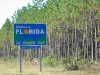 Florida State Line near Okefenokee Swamp in Georgia