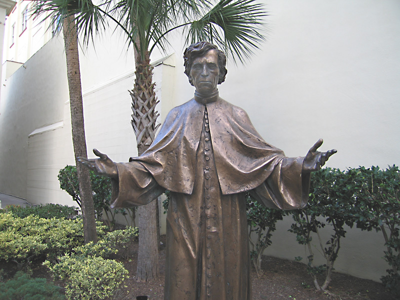 Statue outside Cathedral Basilica St. Augustine, FL
