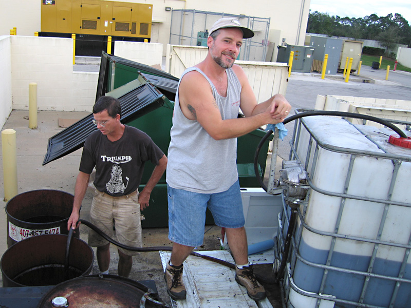 01. Collecting waste oil for biodiesel