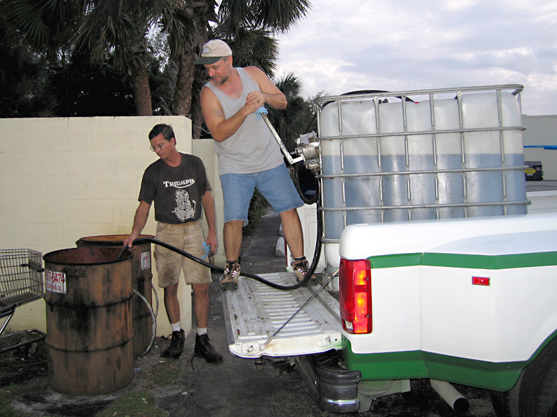 Collecting waste oil for biodiesel