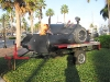 19. Flaming pig roaster trailer for rent.