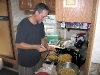 08. Stuffing squash in the hot RV