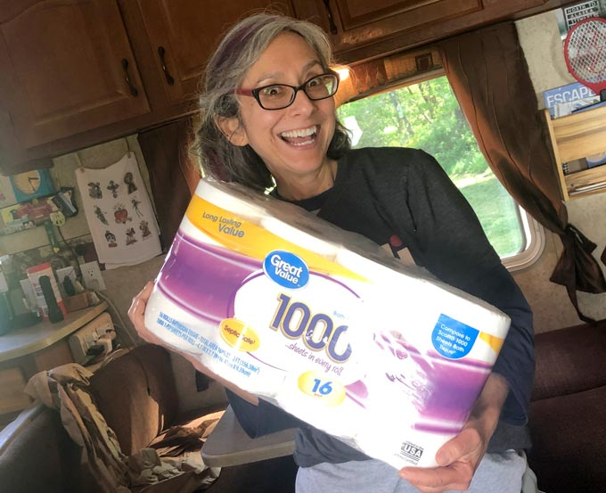 RV pandemic toilet paper