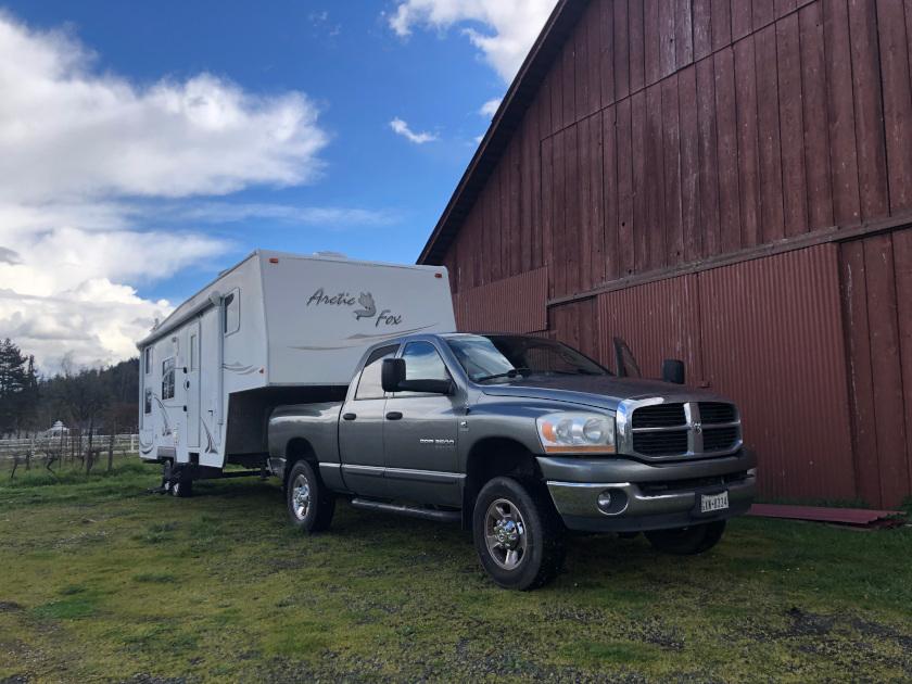 No RV hookups behind a barn