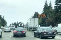 COVID-19 Alert on I-5 California