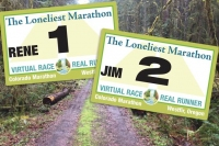 Loneliest Marathon Virtual Race Bibs