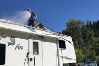 RV Rubber Roof Power Washing
