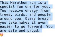 marathon prayer