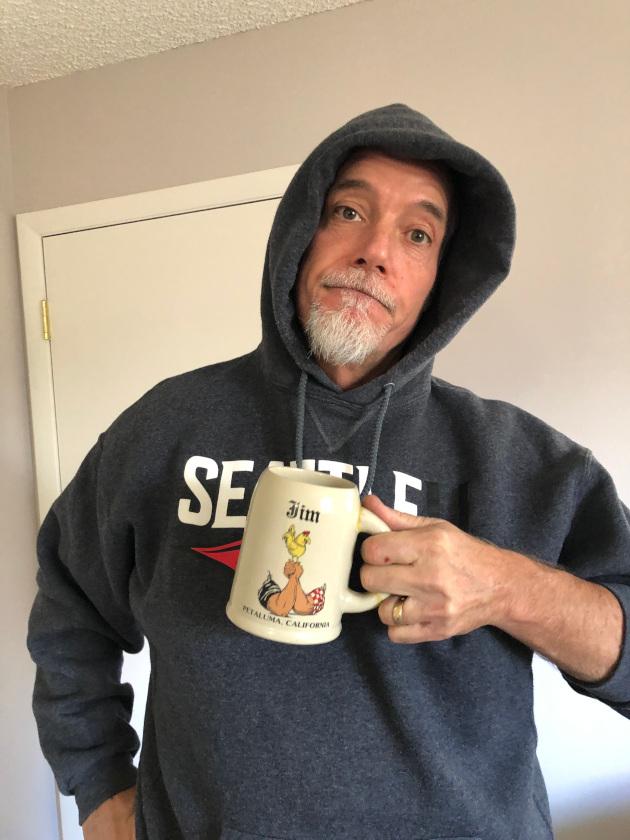 Jim loves his Petaluma mug