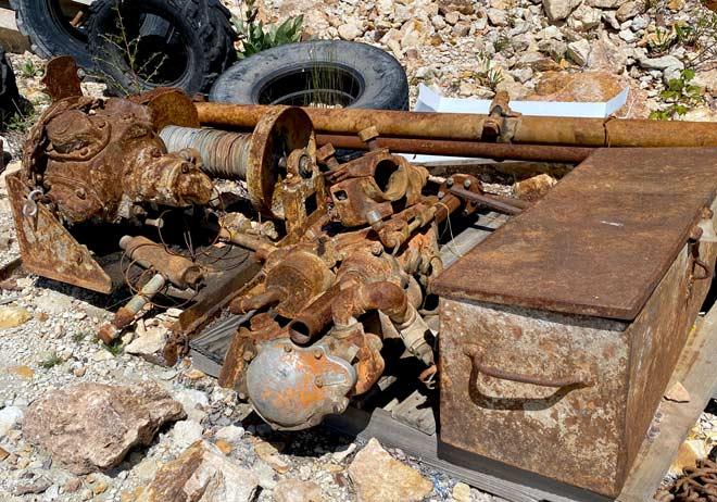old mining equipment