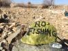 No Fishing, FOY Running Trail Rocks
