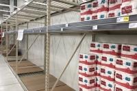 Empty Supermarket Toilet Paper Shelves
