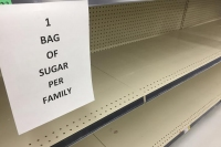 Empty Supermarket Baking Shelves