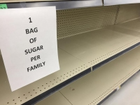 Empty Supermarket Baking Shelves